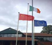 Our flags were flying at Headfort Golf Club